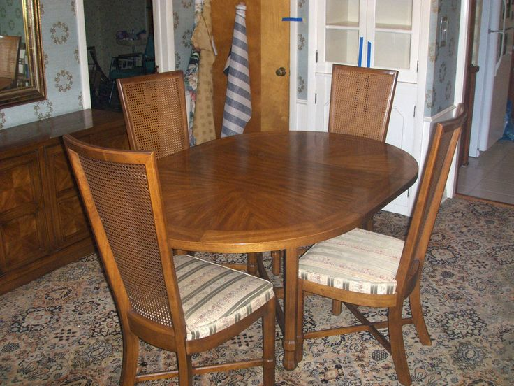 Heritage Dining Room Furniture Vintage 1969 Drexelheritage Compatica Dining Room Set4 Chairs