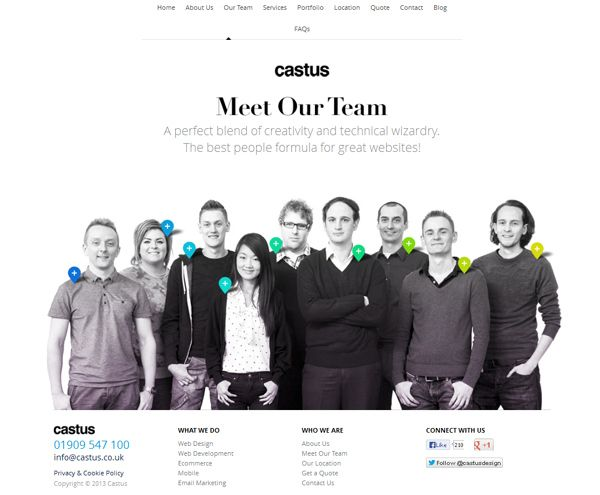 30 Creative About Us Pages  http://www.inspireyourway.com/most-creative-about-us-pages/