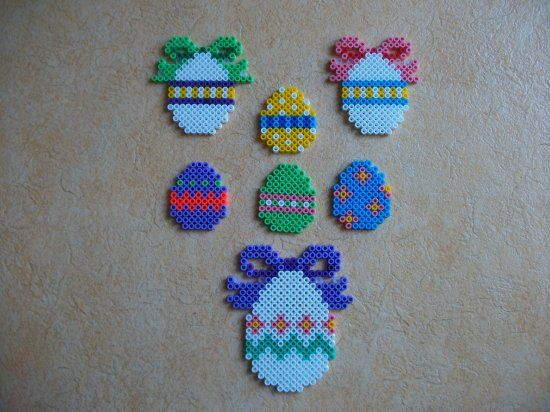 Easter eggs hama perler beads by Nath Hour