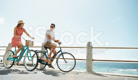 It's the perfect day for a cycle! royalty-free stock photo