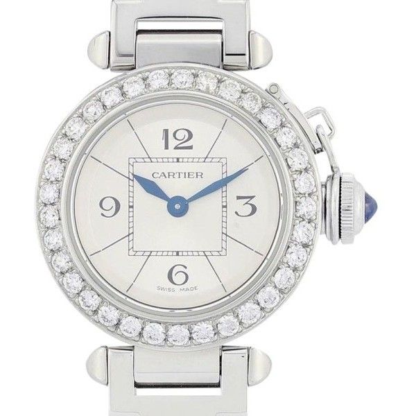 Pre-owned Cartier Pasha W3140007 Stainless Steel 27mm Womens Watch (23.890 DKK) ❤ liked on Polyvore featuring jewelry, watches, preowned jewelry, stainless steel watches, cartier jewellery, cartier jewelry and cartier watches