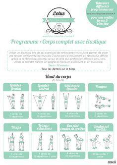 Programme complet pour le corps avec un élastique