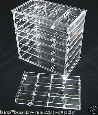 Clear Acrylic 7 Drawer Counter Top Cosmetic Organizer