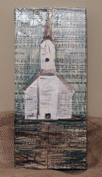 Dorothy Collier Art You Be The Steeple Church Painting