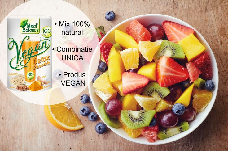 Vegan - Detox Smoothie Meal Balance® este combinatia perfecta pentru un mic dejun sanatos si o bautura delicioasa si satioasa. Incearca-l si tu!