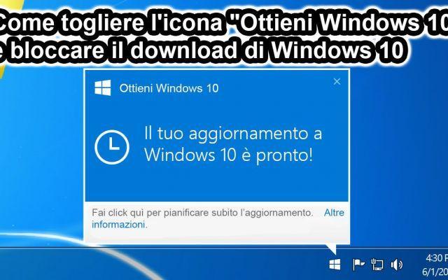 """Togliere l'icona """"Ottieni Windows 10"""" e disattivare l'aggiornamento di Windows 10 Se utilizzate Windows 7 o Windows 8 avrete certamente ricevuto l'aggiornamento che abilita un'icona permanente visualizzata sulla barra dell'orologio che vi invita ad aggiornare il vostro Windows a W #windows10 #trucchipc #windows #software"""