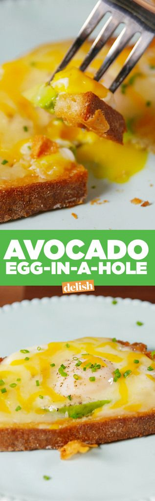 Avocado Egg-In-A-Hole  - Delish.com