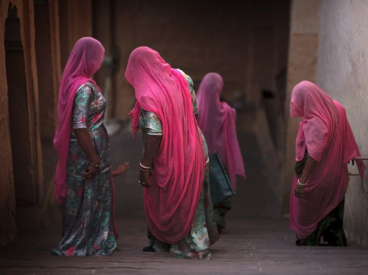 Women in Veils Image, India - National Geographic Photo of the Day