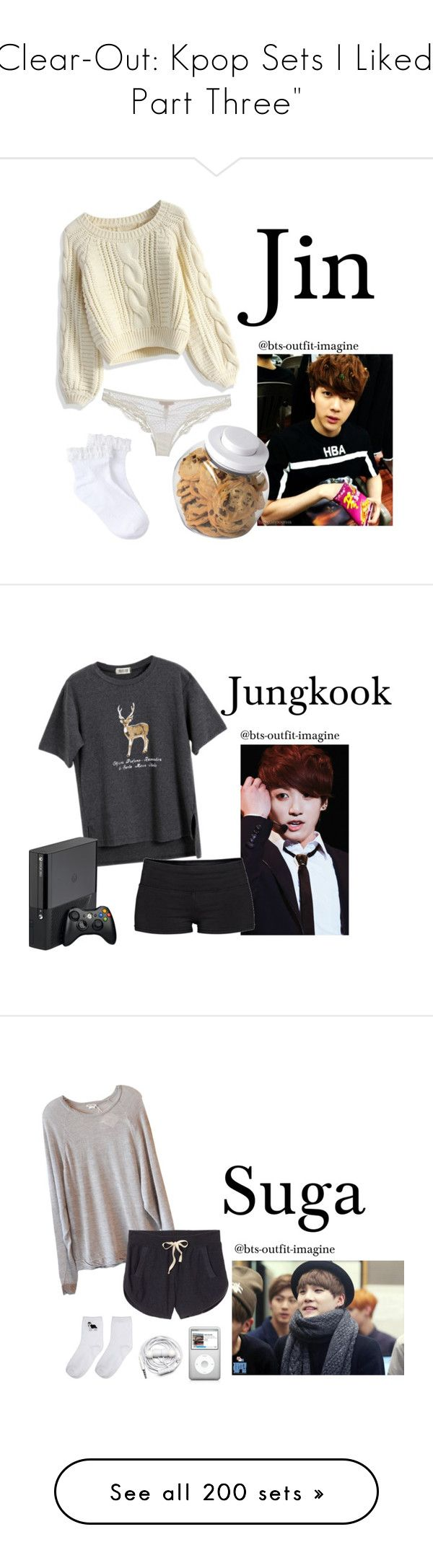 """""""Clear-Out: Kpop Sets I Liked   Part Three"""" by living-in-luxury ❤ liked on Polyvore featuring art, simple, kpop, korean, bts, jin, jungkook, Suga, rapmonster and jimin"""