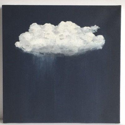 Origineel Acryl schilderij | Cloud schilderij | Cloud Art | Landschap schilderij | Schilderij op Canvas | Wall Art | Sara Beckley kunst