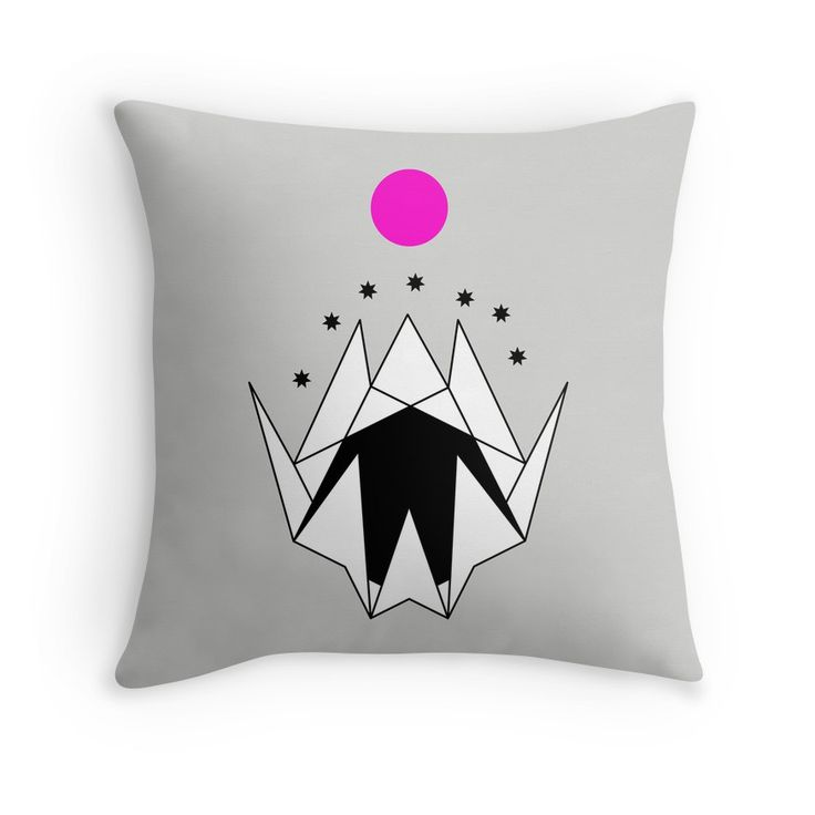 Geometric White Mountains With Purple Moon 7 by WERK