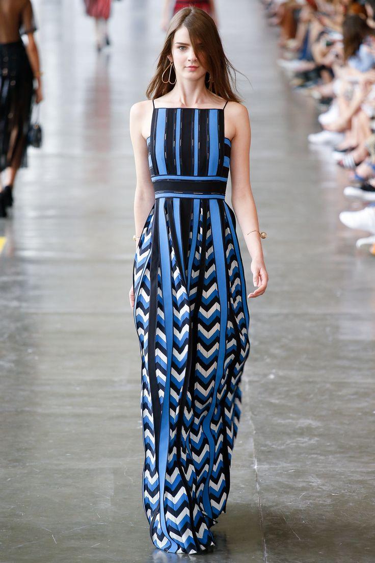 Reinaldo Lourenço São Paulo Fall 2016 Fashion Show I like the mixed print and materials, the waist line, and maxi dress.