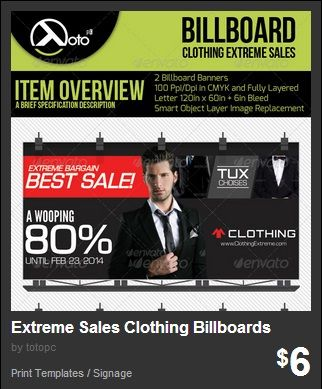 Clothing Extreme Sale Online Shopping Billboard Banners for your sale or discount advertising, posting or promotion.