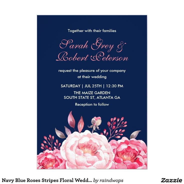 25+ Best Ideas About Floral Wedding Invitations On