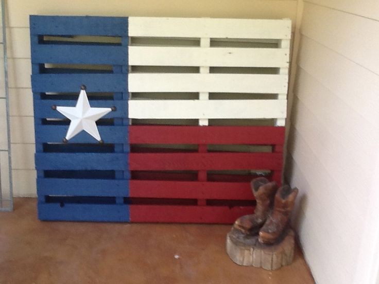 Texas Flag: This was not on Pinterest but since I made the U.S flag I had to make the Texas Flag.