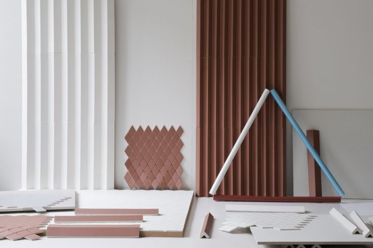 Sound Dampening | Classy wall tile solution. Rombini Tile Collection 2015 - Ronan & Erwan Bouroullec Design