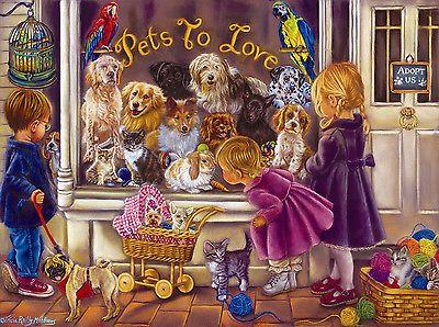 Pets to Love 1000 Piece Jigsaw Puzzle Sunsout Art Tricia Reilly Matthews New | eBay