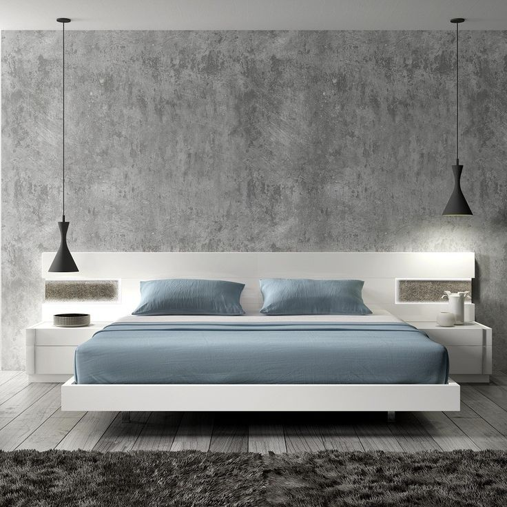 luxury floating white bed furniture design with resort blue ...