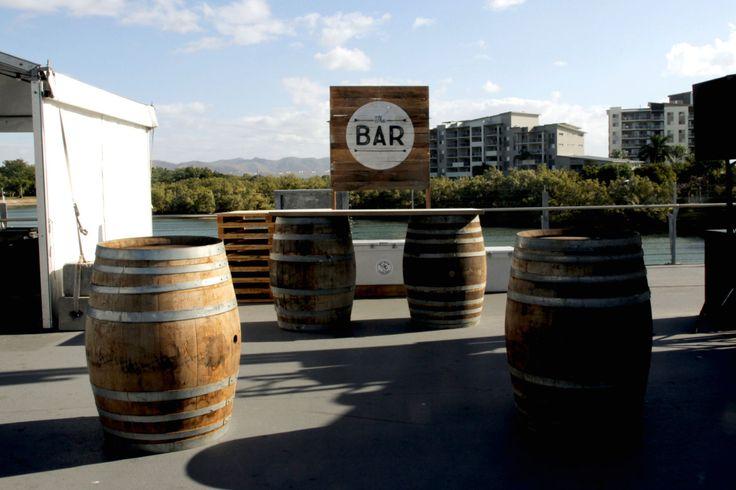 Destination Q on Victoria Bridge | Wine Barrels http://www.edeevents.com.au/wine-barrel