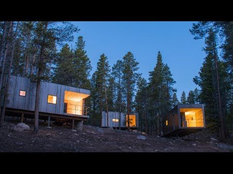 Colorado architecture students clad micro cabins in sheets of steel