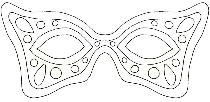 Create Your Own Mardi Gras Mask with These 19 Free Templates: Two Mardi Gras Mask Templates at Re-Covered Treasures