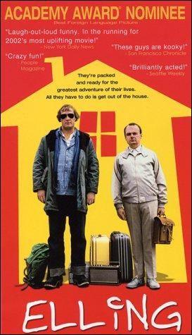 """DVD CINE 582 - Elling (2001) Noruega. Dir: Peter Naess. Drama. Enfermidade. Sinopse: Elling está preparado para volver ao """"mundo real"""" tras un período de dous anos nunha clínica psiquiátrica. Tutelado polos servizos sociais noruegueses, el e o seu compañeiro de habitación, un xigante bonachón chamado Kjell Bjarne, son propostos para ser reintegrados na comunidade. A asistencia social concedeulles un apartamento en Oslo, onde se supón que han de ser capaces de coidar de si mesmos.."""