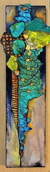 Rough Road, 053016 by Carol Nelson mixed media ~ 3 inches x 12 inches