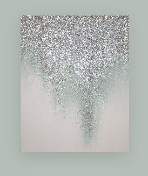 Original Ora Birenbaum Painting, Art, Metallic Abstract Art Fine Gallery Painting on Canvas Title: Dreaming 30x48x1.5″
