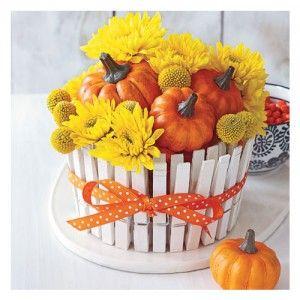 Create a Festive Mini Pumpkin Centerpiece