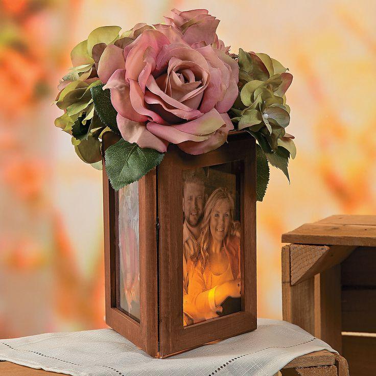 Wood frame centerpiece idea orientaltrading