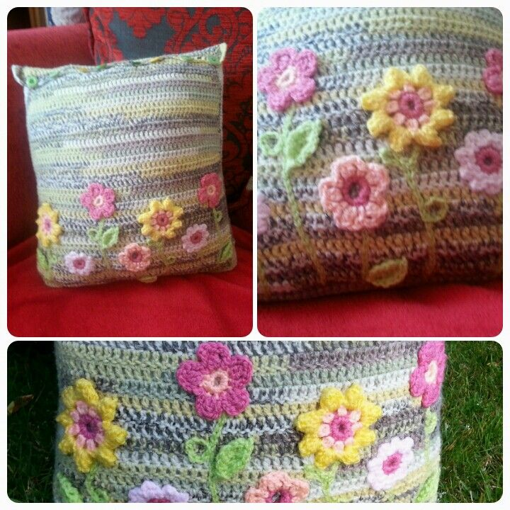 Summer flowers cushion