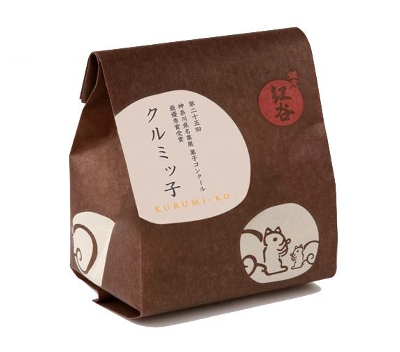 Kurumi-Ko. Caramel walnut cookie packaging.