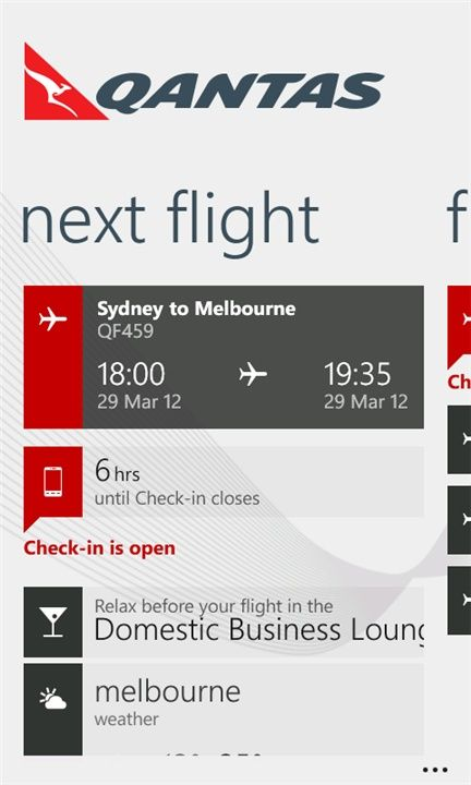 Qantas Windows phone app    ----BTW, Please Visit:  http://artcaffeine.imobileappsys.com