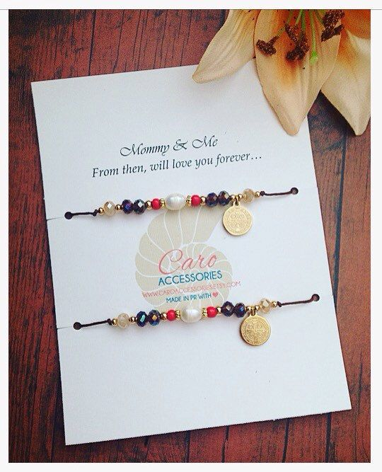 San Benito pulsera madre e hija by CaroAccessories on Etsy