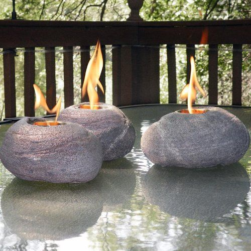 Best Fire Rocks Ideas On Pinterest How To Make Fire Pit With - Concrete outdoor fireplace river rock fire bowl from restoration hardware