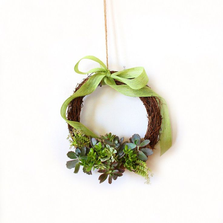 Living Succulent Wreath by FleurieuGifts on Etsy