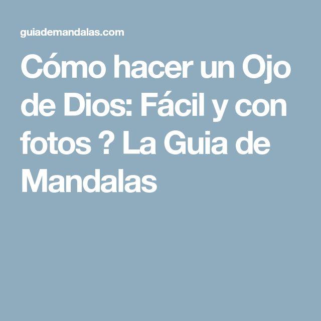 Cómo hacer un Ojo de Dios: Fácil y con fotos ⋆ La Guia de Mandalas