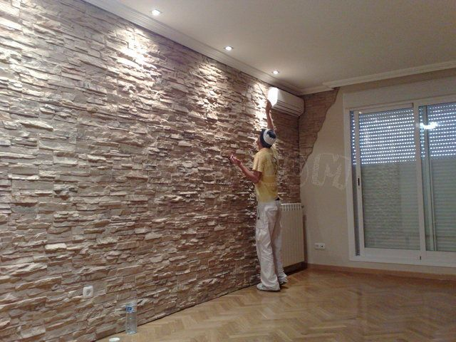 Pared de imitaci n piedra precioso ideas para casa for Piedra barata para paredes