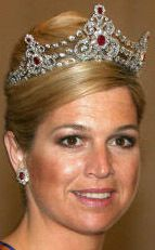 Tiara Mania: Ruby Parure Tiara worn by Queen Maxima of the Netherlands