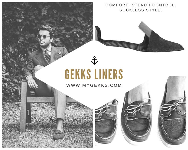 Gekks are not your typical low cut socks; using patented technology Gekks suction to almost all of your drivers, loafers and boat shoes in a no show position, while providing incredible comfort, sweat and stench prevention. Get the effortless, classic style of a sockless look without the smelly, sticky side effects. Now available for in women's styles! www.MYGEKKS.com, available in 1, 2, 3 & 4 packs