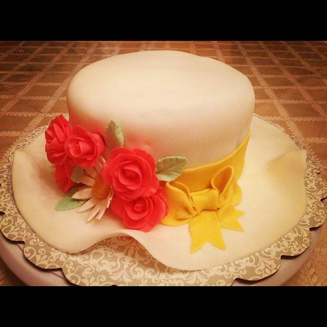 for women's garden party? Fancy Hat Cakes | Fancy Hat Cake | Flickr - Photo Sharing!