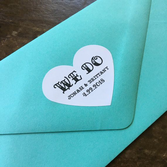 Wedding favor labels personalized stickers by ClementineWeddings