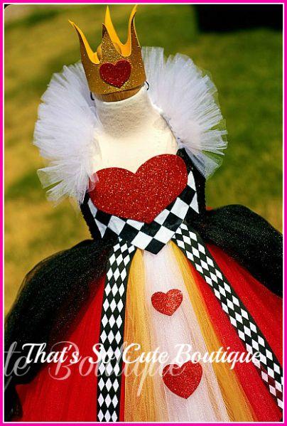 Queen of Hearts Tutu Dress-queen, hearts, pageant wear, tutu dress, halloween, red, black tutu dress
