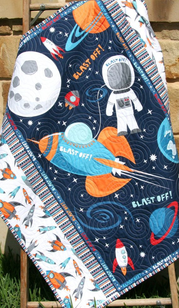 17 best ideas about moon crib on pinterest moon shapes for Space fabric quilt
