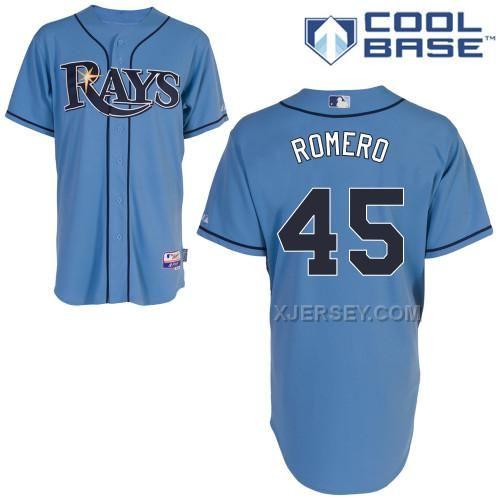 http://www.xjersey.com/rays-45-romero-light-blue-cool-base-jerseys.html RAYS 45 ROMERO LIGHT BLUE COOL BASE JERSEYS Only $43.00 , Free Shipping!