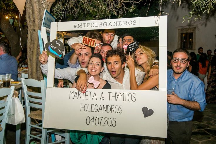 'Folegandros Wedding Panigiri' photo booth ideas friends memories | lafete