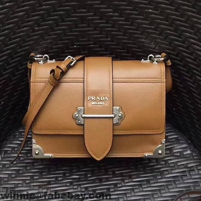 94773bcb1ab3 Where to Buy Prada Cahier Leather Shoulder Bag 1BD095 2018 ...