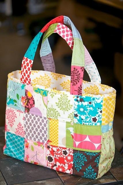 cute patchwork diaper bag