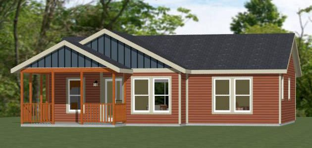36x26 House 36x26h1a 1 Bedroom 1 Bath Home With Microwave Over Range And Stacked Washer Dryer Sq Shed To Tiny House Small House Plans Garage House Plans
