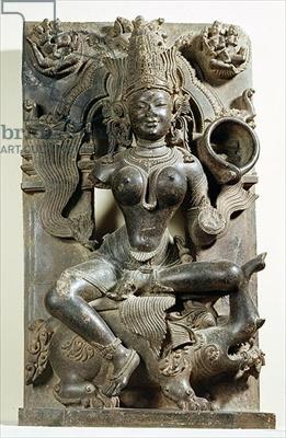 Varunani, carving from the Konark Sun Temple, Orissa, Eastern Ganga dynasty (stone)
